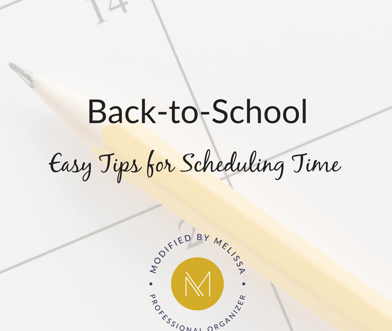 Back-to-School Organization: Easy Tips for Scheduling Time