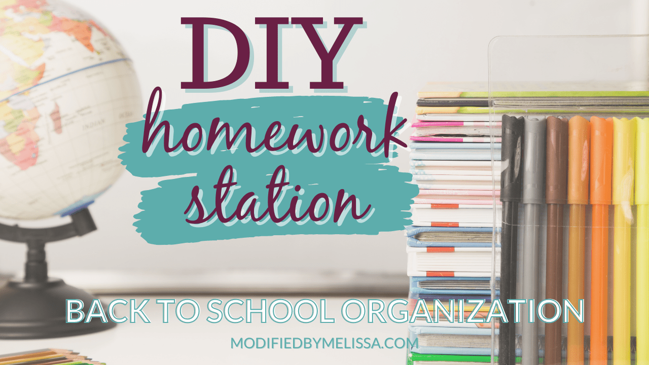 Back-to-School Organization | How to DIY a Homework Station