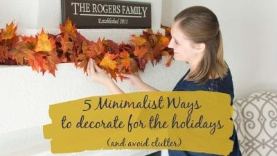 5 Minimalist ways to decorate for the holidays